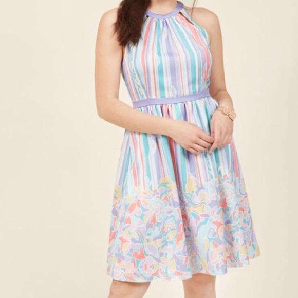 ModCloth Pastel Striped Dress w/ pockets! New!